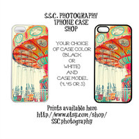 DISCONTINUING 5/6/13 Iphone 5 case. 4/4s case. Carmival. Swings. Dreamy. Colorful. bright. orange. yellow. pink. santa cruz beach boardwalk.
