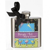 Wake Up Frankie - Drink 'til He's Cute Flask