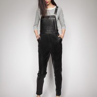 Wythe leather overalls