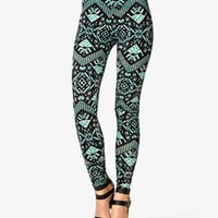 Multicolored Tribal Print Leggings