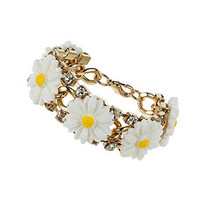 Daisy and Rhinestone Bracelet - Jewelry  - Bags & Accessories