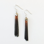 Ombre Tassel Earrings Copper Gradient Black to by ShopClementine