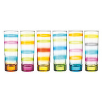 TIE DYE GLASSES - SET OF 6