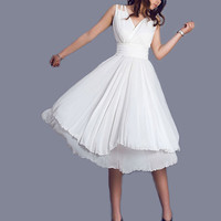 White wedding prom dress (0099)