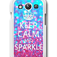 Keep calm and Sparkle - Samsung Galaxy S3 Case Samsung Galaxy SIII Case ,