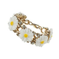 Daisy and Rhinestone Bracelet - Do The Daisy - We Love - Topshop USA