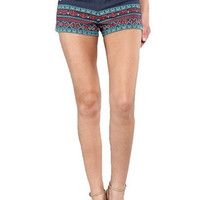 Little Miss High Waisted Tribal Shorts - Denim -  $44.00 | Daily Chic Bottoms | International Shipping