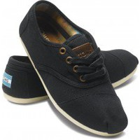 Black Canvas Women&#x27;s Cordones | TOMS.com