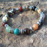 Karmic Balance -  Multi-Gemstone Beaded Stretch Bracelet