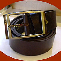 handmade man&#x27;s brown leather belt