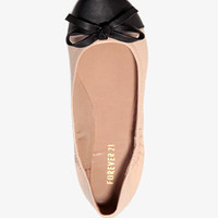 Contrast Bow Ballet Flats | FOREVER 21 - 2030187553