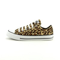 Converse All Star Lo Athletic Shoe, Tan Leopard, at Journeys Shoes