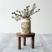 Vintage Wooden Three Legged Stand