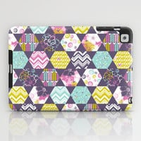 Garden Party Festive Hexi iPad Case by Heather Dutton