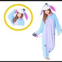 Amazon.com: Japan Sazac Original Kigurumi Pajamas Halloween Costumes Eeyore Winnie the Pooh: Toys & Games