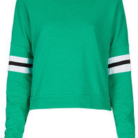 Stripe Sleeve Sweat - New In This Week - New In - Topshop