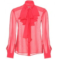 mytheresa.com -  Miu Miu - SILK BLOUSE  - Luxury Fashion for Women / Designer clothing, shoes, bags