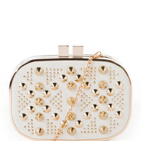 Sunset Boulevard Studded Clutch