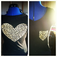 Leopard print heart tee  by AngeliqueMerici on Etsy