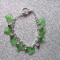 Elf Maiden Bells and Leaves Charm Bracelet from On Secret Wings
