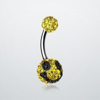Smiley Tiffany Inspired Sparkle Ferido Belly Ring