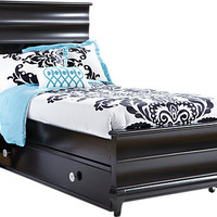 Milan Black 3 Pc Twin Bed