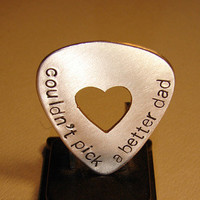 Could not pick a better dad bronze guitar pick personalized for fathers day