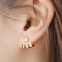 Letter Kiss Earrings from Just So Cute