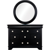 Oberon Black Dresser Mirror Set