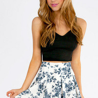 Floral It&#x27;s Worth Skater Skirt $33