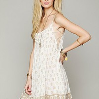 Free People FP ONE Imperial Palm Pintuck Dress