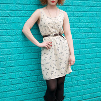 Ivory Vintage Inspired Mag-Big Original Dress