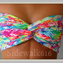Bandeau - Neon Chevron Bandeau - Spandex Bandeau - Bandeau Top - Neon Bandeau