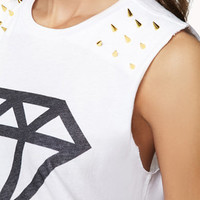 Spiked Basic Diamond Muscle Tee | FOREVER 21 - 2051942323