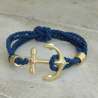 Rope and Anchor Bracelet [3950] - $17.00 : Vintage Inspired Clothing &amp; Affordable Fall Frocks, deloom | Modern. Vintage. Crafted.