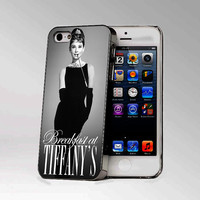 Audrey Hepburn Breakfast at Tiffanys - Design Photo Hard Case iPhone 4/4s case or iPhone 5 case - Black or  White (option)