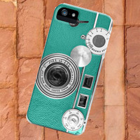 Teal retro vintage camera phone on iPhone 5 Case, iPhone 4 4s Case, samsung s2 case,samsung s3 case