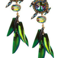 Erickson Beamon | Aquarela Do Brasil gold-plated Swarovski crystal earrings | NET-A-PORTER.COM