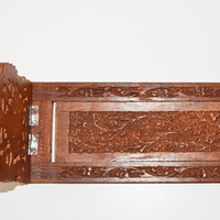 Hand Carved Wooden Folding Book holder Made in India Wooden Bookends