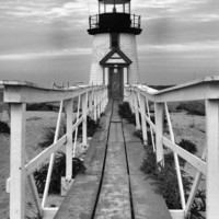 Brant Point Lighthouse - 11x14 Print - Photography #etsy #black #white #Light #house #beach