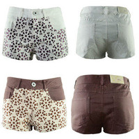 Recreational water short shorts embroidered hot pants