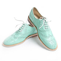 mint oxford brogue shoes  FREE WORLDWIDE SHIPPING by goodbyefolk