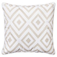 Threshold Contrast Back Tan/White Diamond Pillow