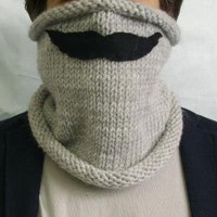 Stylish and Humorous Neckwarmer with Mustache by StudioCybele