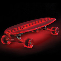 The Illuminated Flexible Skateboard - Hammacher Schlemmer