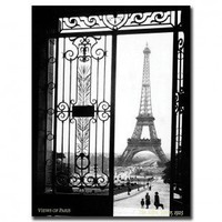 Trademark Global Views of Paris by Sally Gall, Traditional Canvas Art - 32&quot; x 24&quot; - V6066-C2432GG - Canvas Art - Wall Art &amp; Coverings - Decor