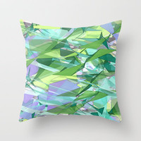 Shards Throw Pillow by Ally Coxon