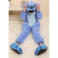 Triline Cosplay Halloween Romper HOT Disney Stitch Costume party Pajamas Unisex costume Kigurumi Pajamas Sleepwear stitch / M