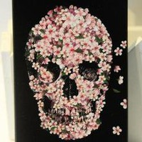 waloli shopping mall  Cool Pink Flower Skull Hard Cover Case For Iphone 4/4s