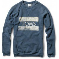 Women&#x27;s Heather Dark Blue TOMS Classic Crew  | TOMS.com